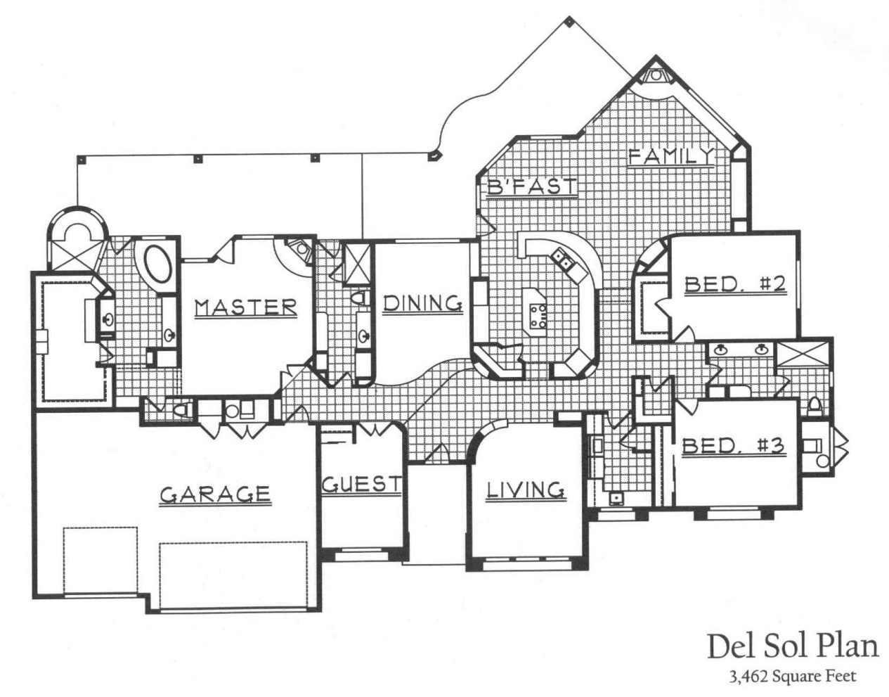 Trs custom builders floor plans for Tucson house plans